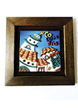 Cuadro Decorativo en Relieve: Pueblo Típico 1 / handcrafted decorative embossed picture: andean village 1