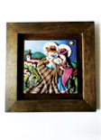 Cuadro Decorativo en Relieve: Pesebre Campesino 1 / handcrafted decorative embossed pictures: typical nativity 1