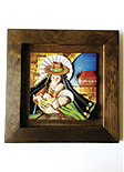 Cuadro Decorativo en Relieve: Virgen Campesina 1 / handcrafted decorative embossed picture: Typical Virgin Mary 1