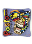 Imán Decorativo en Relieve: Máscara de Carnaval 1 / handcrafted decorative embossed magnet: carnival mask 1