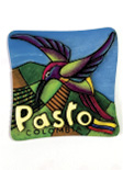 Imán Decorativo en Relieve: Quinde 1 / handcrafted decorative embossed magnet: hummingbird 1