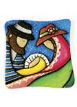 Imán Decorativo en Relieve: Pesebre Campesino 1 / handcrafted decorative embossed magnet: typical nativity 1