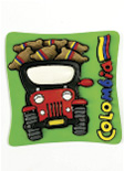 Imán Decorativo en Relieve: Yipao 1 / handcrafted decorative embossed magnet: Yipao - colombian typical transport 1